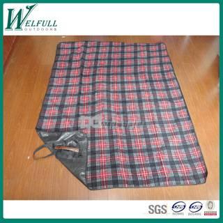 high quality polar fleece picnic blanket, picnic rug with tote