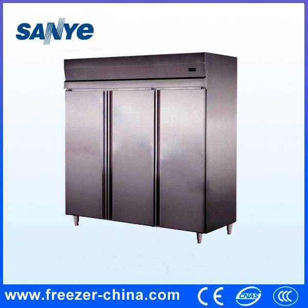 Three Big Door Commercial Fish Storage Freezer