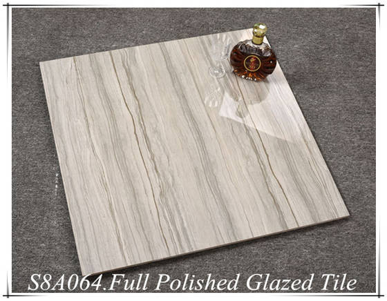 Interior Decorative Gray Wood Grain Vitrified Glazed Ceramic Floor Tile Design For Living Room