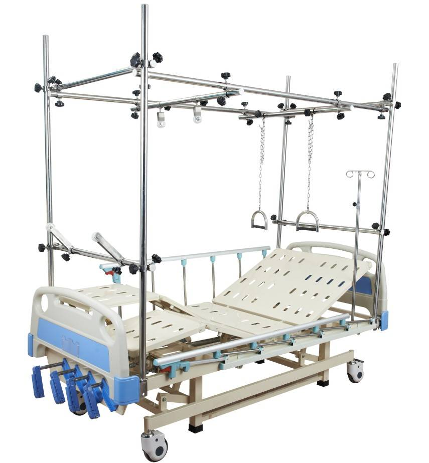 Adjustable Orthopaedic traction bed lumbar traction bed