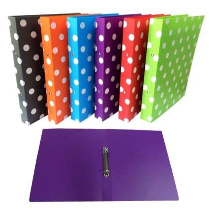 Polka Dot Ring Binder