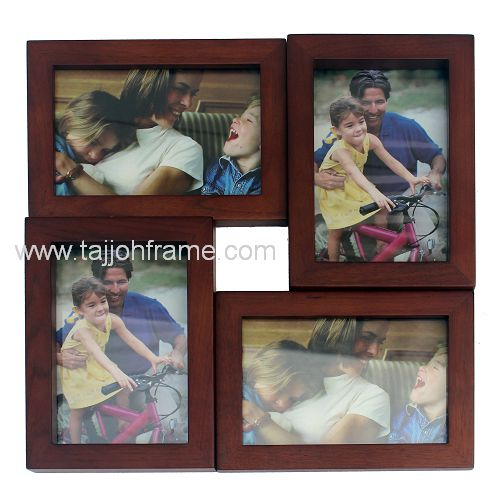 Modern Home Décor 4-Opening Collage Wooden Photo Frame