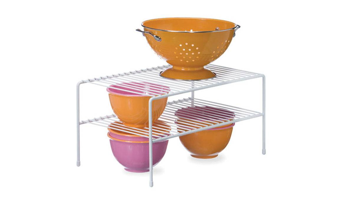 Wire Shelf, Double Tier Wire Riser, Double Cabinet Storage Shelf