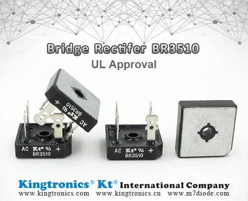 Kt Kingtronics Bridge Rectifier BR3510 with UL Approval