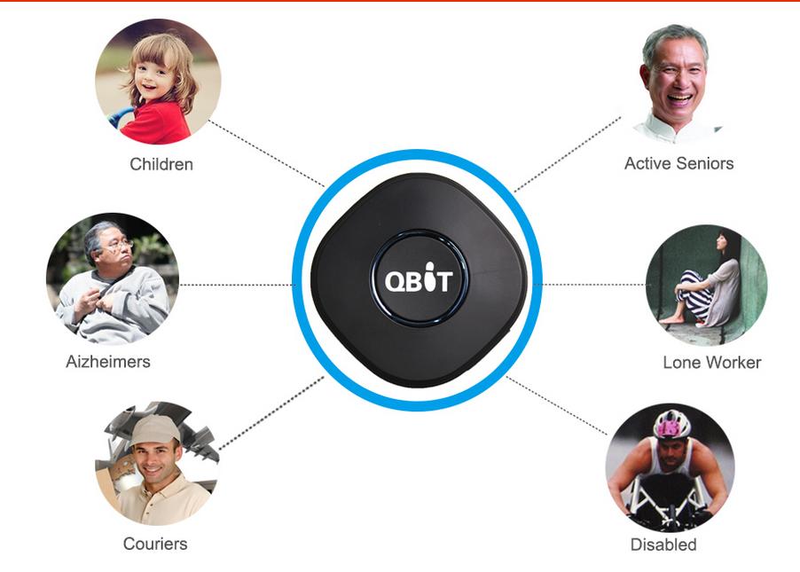 Qbit Mini Personal GPS Tracker