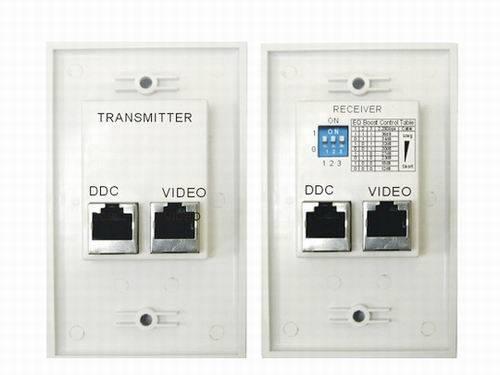 HDMI wallplate Amplifier Extender over cat5e/6 RJ45 to 35M