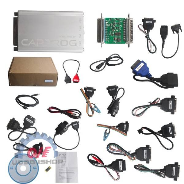 Carprog Full V8.21 Firmware Perfect Online Version with All 21 Adapters Including Much More Authoriz