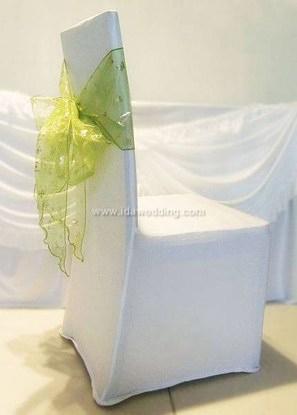 IDASS03 Wholesale latest wedding favor Organza tulle Chair Sash with many colors available for weddi