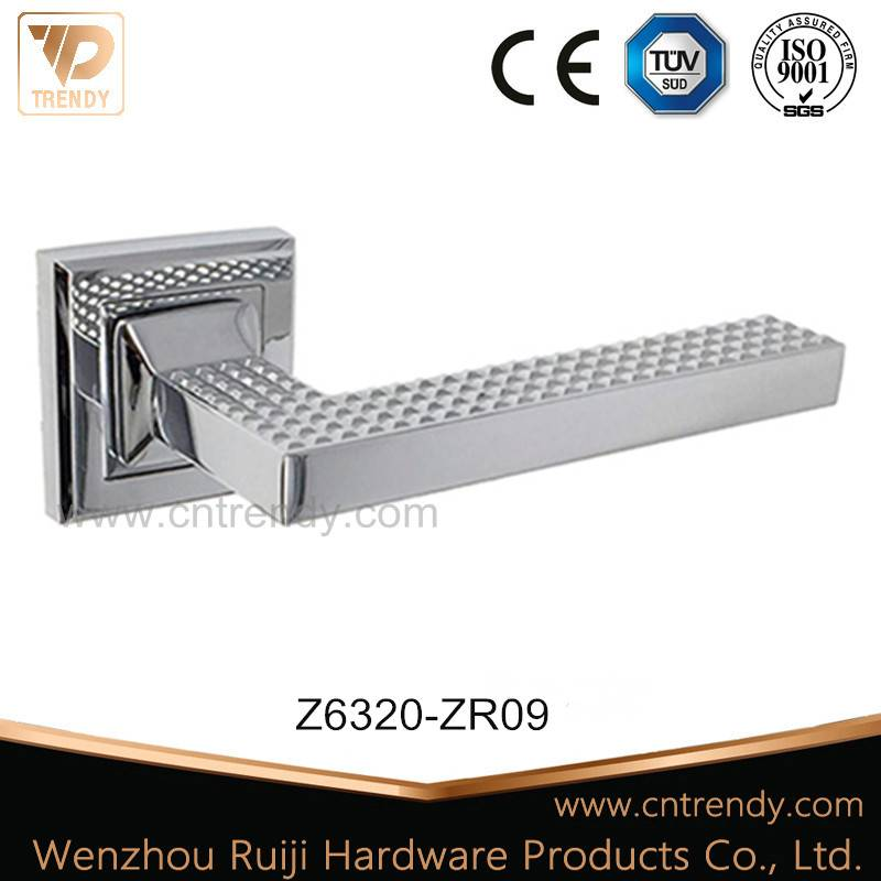 Zinc Alloy Door Lever Handle with Lock Cover (Z6320-ZR09)