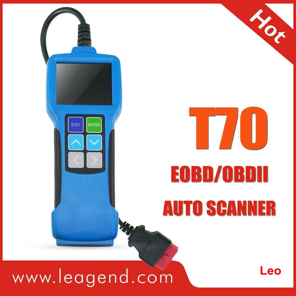 All OBDII/EOBD Highend Diagnostic Color-Screen Auto Scanner Tool T70