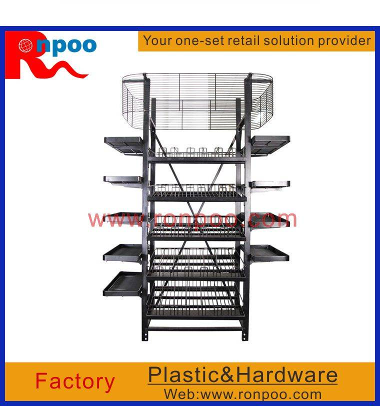 Supermarket display stand,Chain stores display racks,metal display racks,Standing Metal wire display