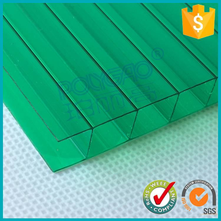 100% virgin material GE ayer 8mm twin wall colored cheap lexan hollow polycarbonate sheet price for