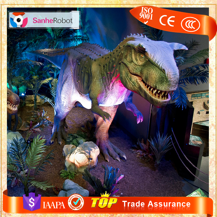 Sanhe Robot 16m Long Indoor Exhibition Simulation Mechanical Dinosaur