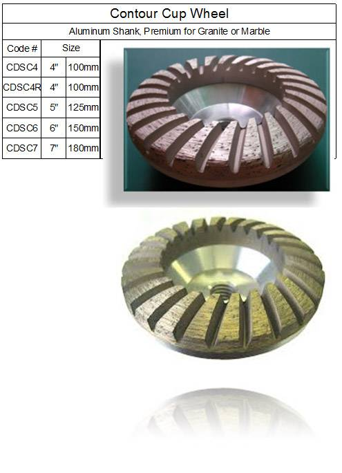 Contour ( Convex ) Turbo Grinding Cup Wheel