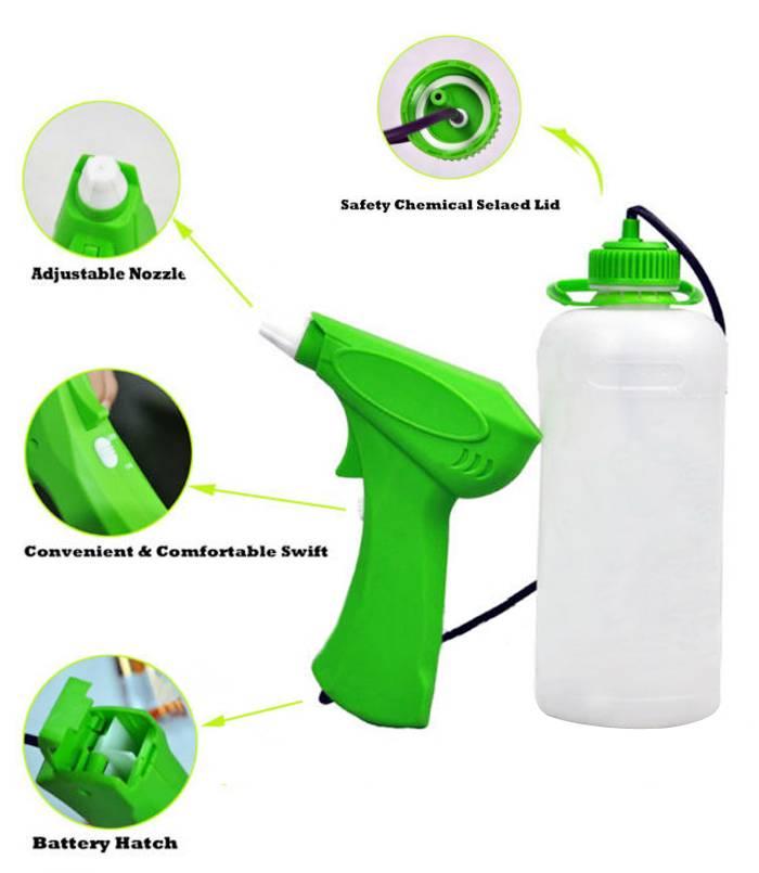 iLOT 4*1.5A battery motorized trigger sprayer