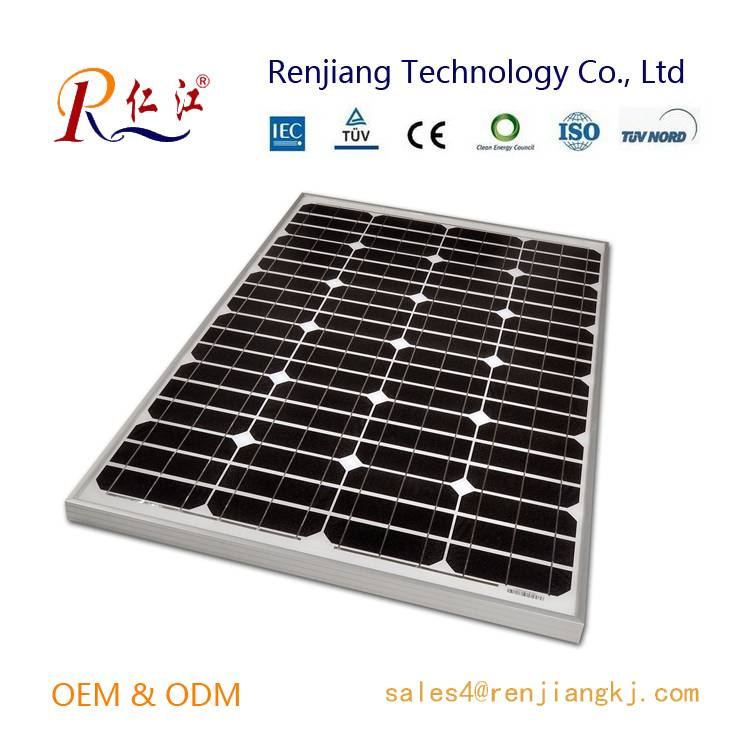 120W Mono Solar Panel, High efficiency Made of A-grade Monocrystalline Cells With TUV/IEC/CE/CEC Cer