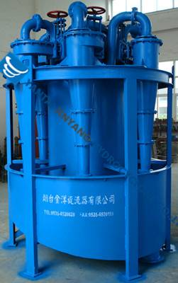 Primary high fineness hydrocyclone separator