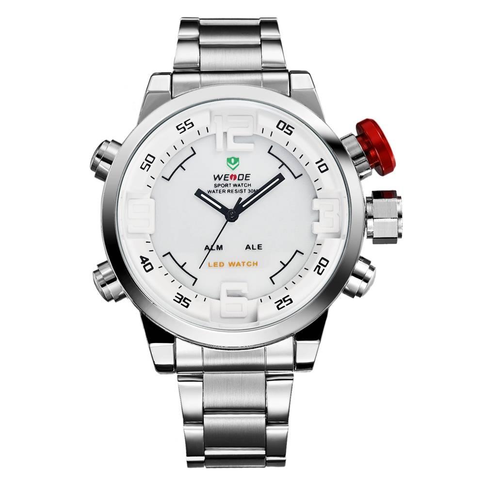 WEIDE 2309 2015 Top Sale Men Waterproof Digital Quarts Stainless Steel Watches