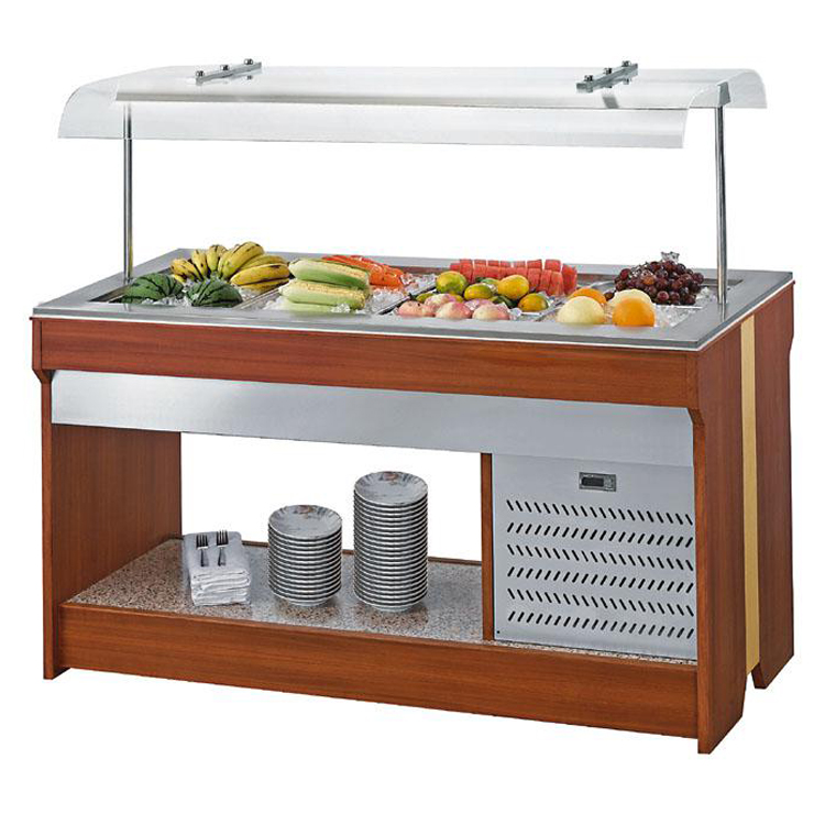 Seasonal salad cooler refrigerated salad bar for buffet and restaurant
