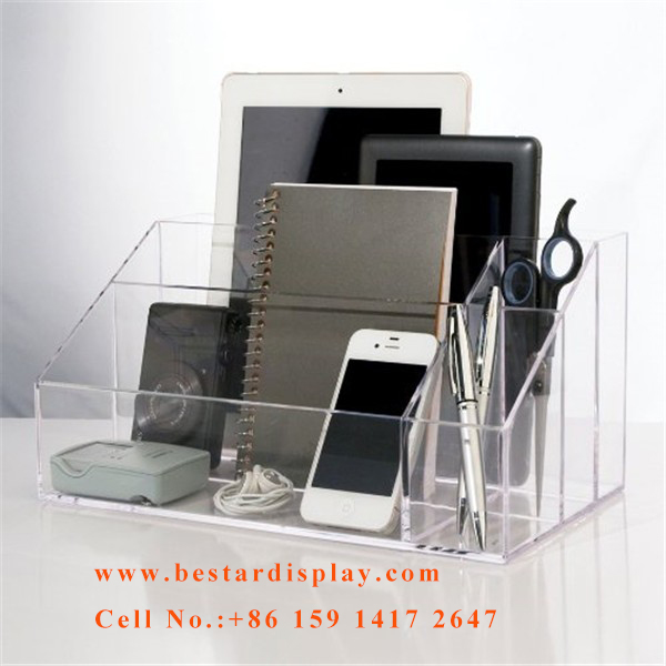 High quality Plexiglass PMMA acrylic storage organizer