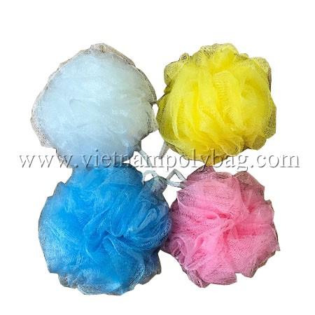 Vietnam plastic loofah bath sponge