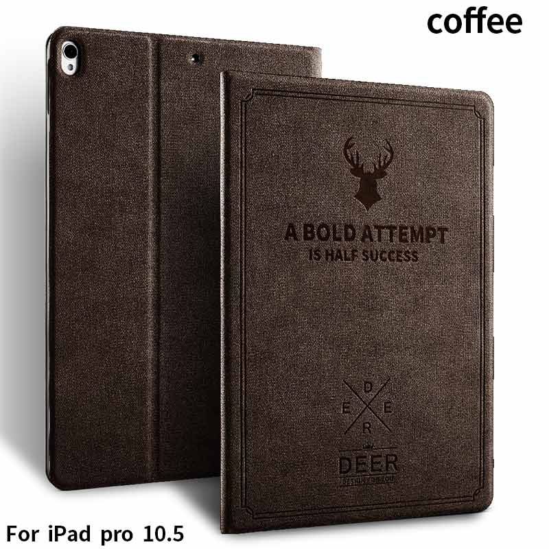 Deer series pu leather high ending fabric tablet cases for new ipad 2017 ,All models for ipad
