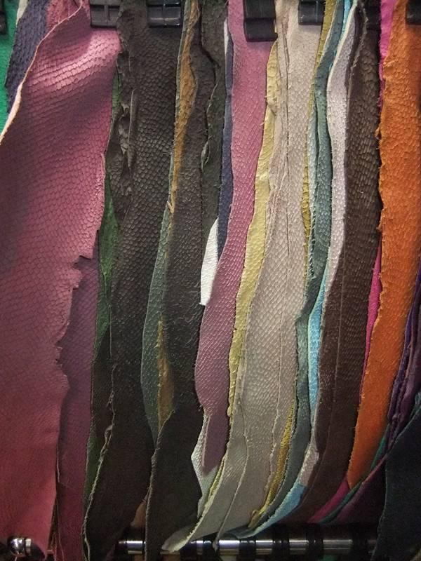 salmon skin leather