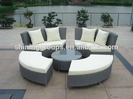 Rattan Round Sofa Set Outdoor Garden Furniture C662