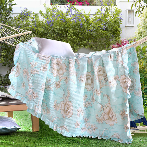Lightweight Thin Printed Microfiber Quilting Summer Air-Conditioning Comforter Bedding Quilts As Bed