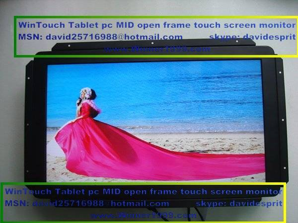 open frame lcd touch IR/SAW/Capacitive  with CGA/VGA/DVI