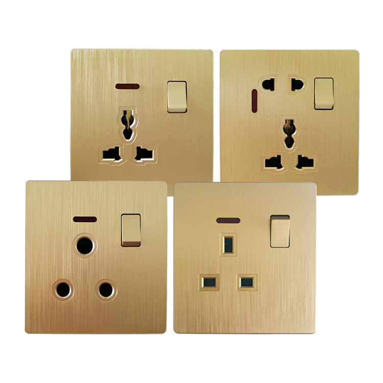 1 gang 13A 15A wall socket with switch