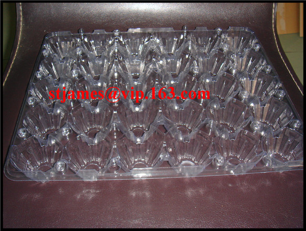 Sales promotion economical strong PVC 30 cavities Egg Tray with separate cover