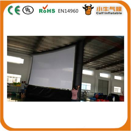 Customized practical oxford cloth outdoor movie inflatable screen