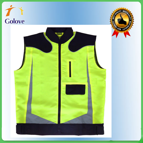 most welcomed custom polyester yellow reflective vests