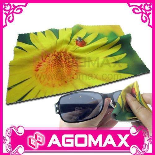 digital printing microfibre glasses cleaning cloth