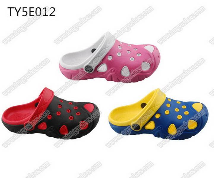 china wholesale fashion nude children eva sandal clogs shoes