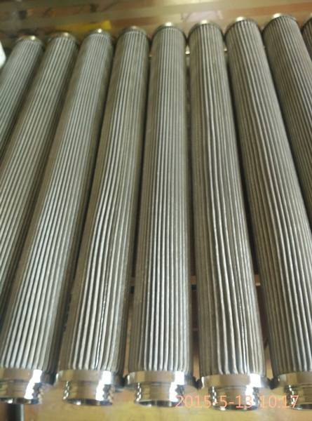 folding corrugated pleated stainless steel filter element