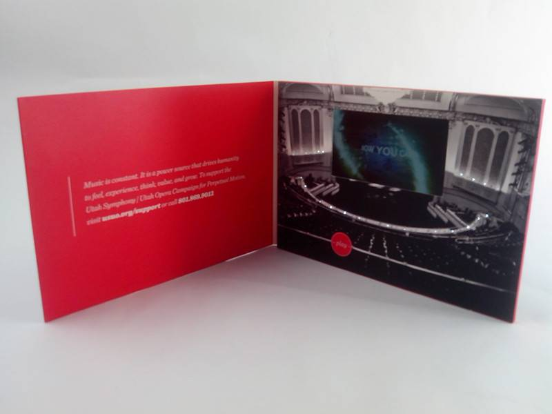 Custom Video Greeting Card in Different Size Video Brochure