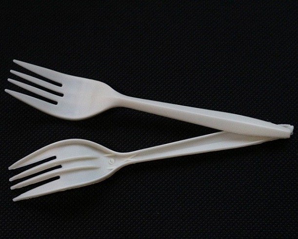 Cornstarch Flat Fork, Biodegradable Cutlery for Traveling