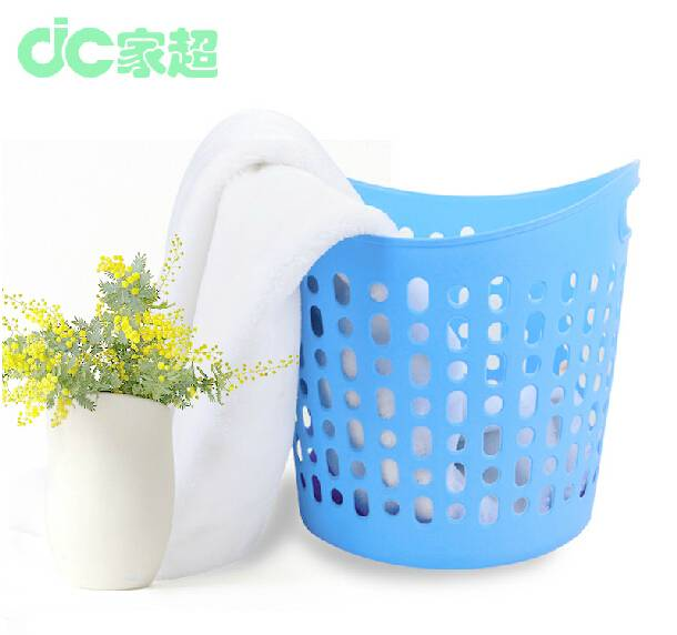plastic round washing flexible plastic laundry basket