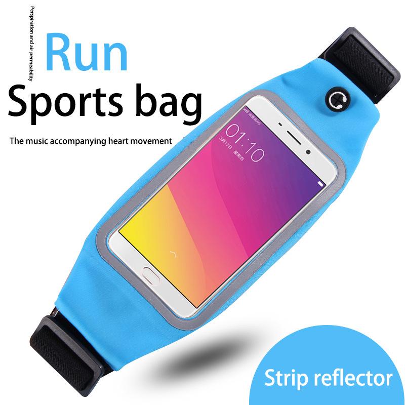 Hot sale 2017 new style waterproof men running fashion sports waist bag