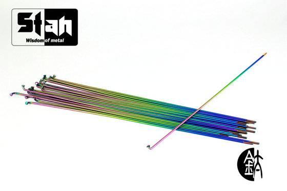 Stan.Ti Titanium Motorcycle Bicycle Spokes Rainbow