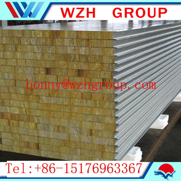 fire-resistance 120 kg/m3 rockwool sandwich panel