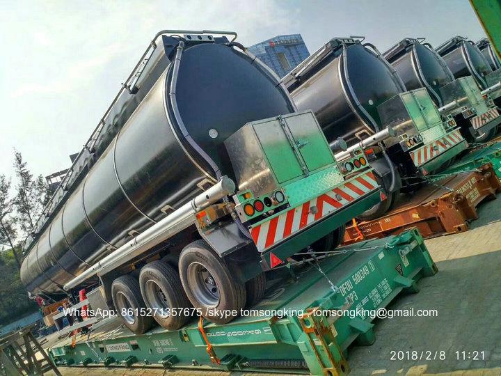 Liquid Asphalt Tank Trailer Heating system ITALY BALTUR TBL45P heating