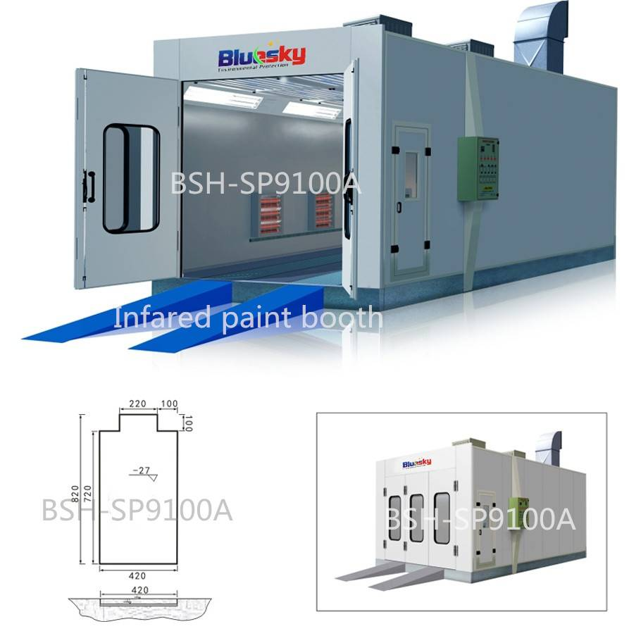 Made in China Spray paint baking booth