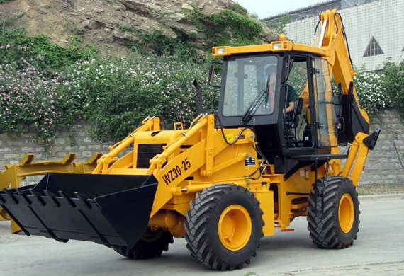 backhoe loader with 1 m3 bucket and 0.3 m3 backhoe for construction,farm and road