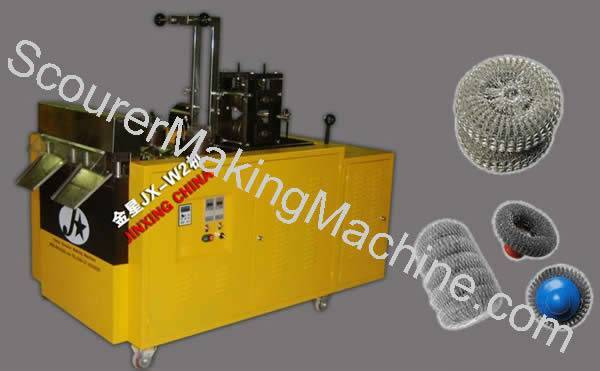 Spiral Knitting Scourer Making Machine
