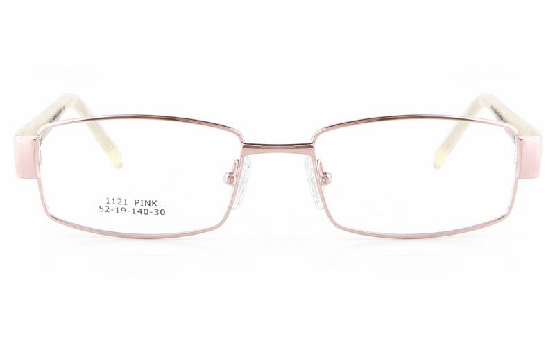 Pink 1121 Full Rim Square Metal-Stainless Steel/ZYL Glasses
