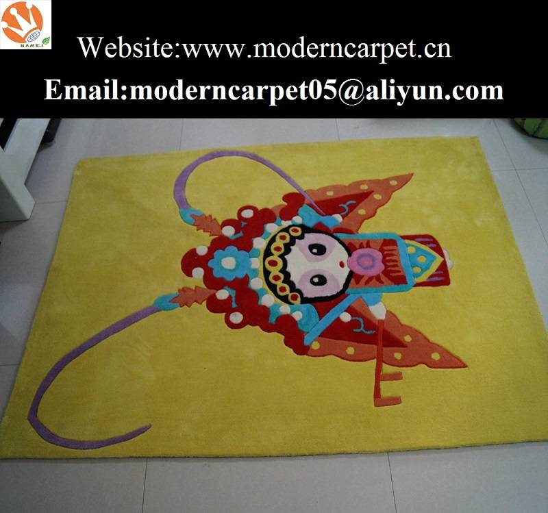 Hand tufted cartoon design kids room carpet rugs