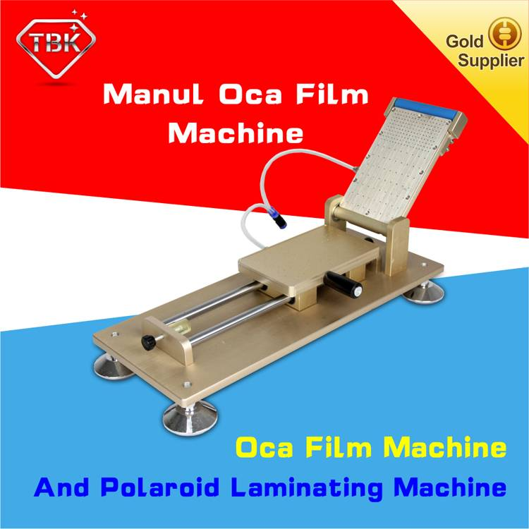 Manual oca polarizer film laminating machine universal vacuum oca lamination machine without mould f